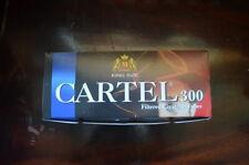 1 Box CARTEL King size filtered cigarette tubes 300 per box