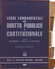 Leggi Fondamentali del Diritto Pubblico e Costituzionale Bassani Italia Traverso