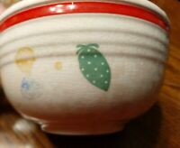 """VINTAGE BAKE OVEN  6""""  POTTERY MIXING/SERVING BOWL FRUIT DESIGN COLLECTIBLE"""