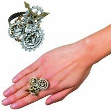 STEAMPUNK RING # Zahnräder Uhrwerk Gothic Retrolook Fantasy Kostüm Schmuck 54533