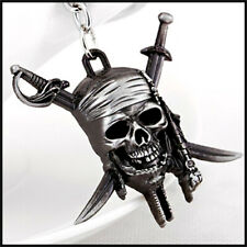 Pirates of the Caribbean Keychain Metal Movie Key Rings Gift Skull Jewelry car