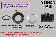 M42-M36X12mm Helicoid tube +  M36-M4/3 Mount (M39-M42 ring free)