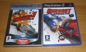 2 jeux playstation 2 PS2 - Burnout 3 takedown + Burnout dominator