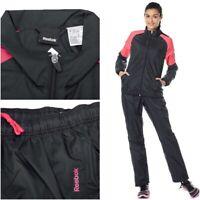 Reebok Women's TS WOVEN Full Tracksuit Sweatshirt pants Ladies Top Bottoms S M L