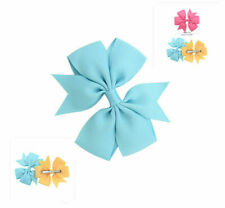 Girls Bowknot Women Headwear Baby Hair Clip Headband Hair Accessories Light Blue