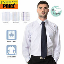 Mens Long Sleeve Business Shirts Office Corporate Wedding Formal