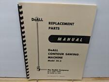 DoAll 36-2 Contour Sawing Machine Parts Manual