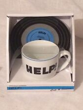 BEATLES HELP! Lyric Cup and Saucer Set Officially Licensed .