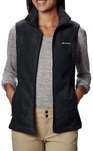 Columbia Women's Benton Springs Soft Fleece Vest XS Black NEW
