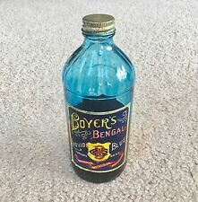 Vintage Boyer's Bengal Liquid Blue Bottle - Philadelphia