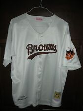 ST LOUIS BROWNS, SATCHEL PAIGE JERSEY, MITCHELL AND NESS, Size 50, LARGE, FLAWED