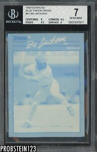 1990 Donruss Blue Paper Proof #61 Bo Jackson Kansas City Royals BGS 7 w/ 9.5