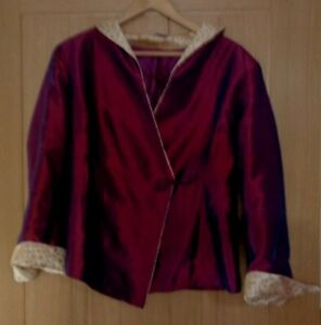 Ladies fab purple wrap round silk top size 12 to 14 great condition