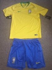 Nike 2018 World Cup Brazil Brasil Jersey / Shirt And Shorts Mens Size Large Kit