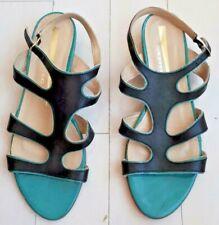 $130 GRIGIARANCIO Women's Leather Sandals Shoes Turquoise ( 39 )