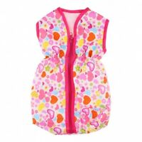 GIRLS PINK DOLL SLEEPING BAG ZIPPERED CARRIER BABY ACCESSORIES PRAMS BEDS