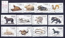 FRANCE self adhesives 2013 SG5278/89 Animals in Art - set of 12 good used cat£35