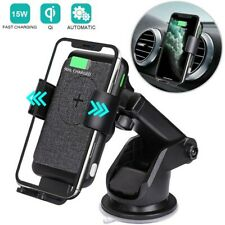15-W Wireless Rapid Charger Mount Windshield /Air Vent Holder Auto Clamping