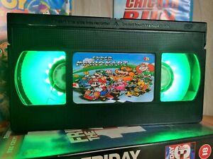 Mario Kart Retro VHS LED Night Light, Desk Lamp, Nintendo, Bedroom Lamp, Kids
