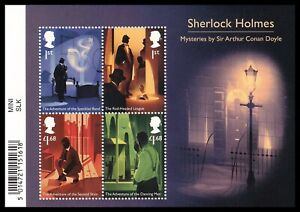2020 GB Sherlock Holmes MS4417 Barcode Miniature Sheet UM MNH