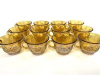 (12) Vintage Indiana Glass Marigold Carnival Harvest Grape Punch Iridescent Cups