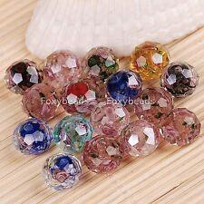 50 Murano Glas Perlen Beads Blume facetten f. Armband