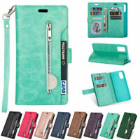 For Samsung S21 Ultra Note 20 S20 S10 S9 S8 Leather Flip Wallet Case Card Cover