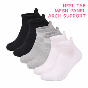 Ladies Sports Socks Ankle Trainer Liner 3 6 Pairs Cotton Rich White Yoga UK 6-11