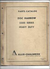 Original Allis Chalmers 869 9001352 Parts Catalog For 2200 Series Disc Harrows