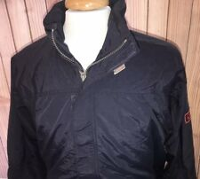 Chaps By Ralph Lauren Men's Sz Medium Nylon Vented Blue Full Zip Hood Jacket