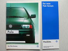 Prospekt Volkswagen VW Polo Variant, 8.1997, 12 Seiten + Preisliste 7.1997
