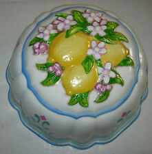 Lemons and Flowers Jello Mold Le Cordon Bleu Franklin Mint