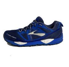 Brooks Cascadia Trail Running Shoes Men's Size 12 Blue White Training Lace Up