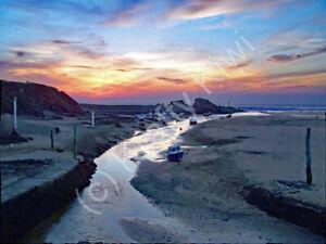 Bude Harbour Sunset Cornwall Photo Art Print Canvas (UK)