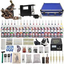 Complete Tattoo Kit 2 Machine Gun 40 Ink Power Supply Needle Equipment Case DC17