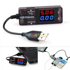 USB Power Current And Voltage Tester W/ Two Output Ports LED Mobile Phone/Tablet