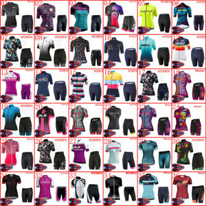 2021 Womens Team Cycling Jersey & Shorts Set Summer Bike Outfits Bicycle Uniform