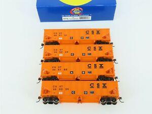 HO Scale Athearn 95718 CSXT CSX Transportation 40' Outside Ballast Hopper 4-Pack