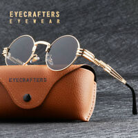 Gold Metal Round Steampunk Sunglasses Retro Vintage John Lennon Sunglasses