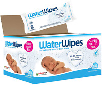 WaterWipes Baby Wipes Sensitive Newborn Skin, 540 Wipes 9 Packs of 60 Wipes NEW