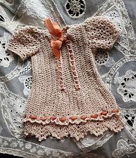 jolie robe au crochet poupée ancienne