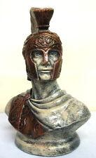 Large Reproduction Greek Roman Soldier Trojan Bust Sculpture