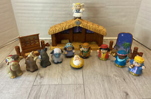 Mattel 2002 Fisher Price Little People 14 Piece Nativity Set - Complete, VGUC