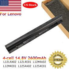 Battery for Lenovo L12L4A02 L12L4E01 L12M4A02 L12M4E01 L12S4A02 L12S4E01 4Cell