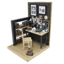 Billy Miniature Diorama DIY kit Work space Industrial Style Room Dollhouse F/S