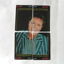 CLIFF RICHARD 4 Chinese Phone Cards like a puzzle plus 1