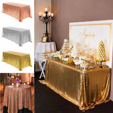 Rectangle Sequin Glitter Tablecloth Sparkly Table Cloth Cover Wedding Party 2021
