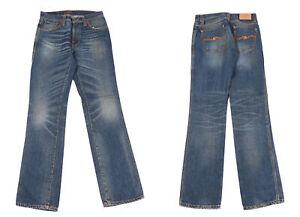 Nudie Jeans Slim Jim Hommes Bleu Jean Taille W30 L34