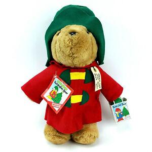 "Paddington Bear Holiday with Ornament Vintage Sears Kids Gift 16"" Plush #89413"