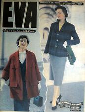 """* EVA N°36/ 1/SET/1951 * Rivista per la donna italiana diretta da """" Sonia """" *"""
